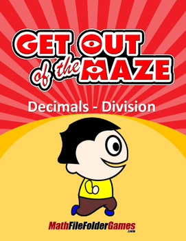 Decimals Mazes - Division Worksheets
