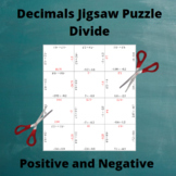 Divide Decimals : Division Puzzle with Positive and Negati