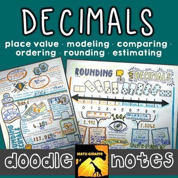 Decimals Doodle Notes Set