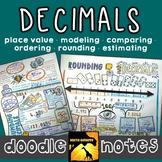 Decimals Doodle Notes Set