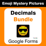 Decimals Emoji Mystery Pictures Bundle - Google Forms
