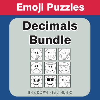 Decimals - Emoji Picture Puzzles Bundle