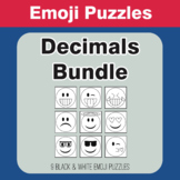 Decimals - Emoji Picture Puzzles Bundle