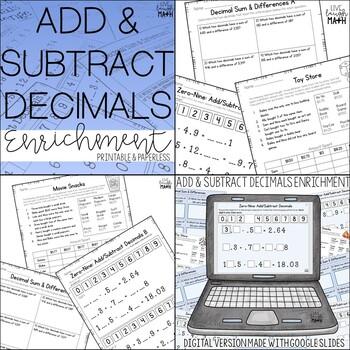 Decimals Enrichment: Decimals Logic Puzzles Bundle