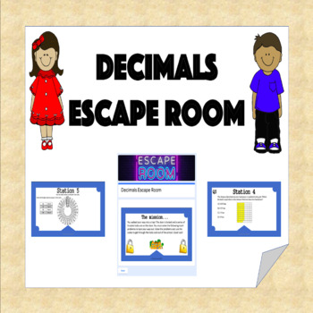 Decimals Escape Room (Adding, Subtracting, Multiplying, Comparing, etc.)