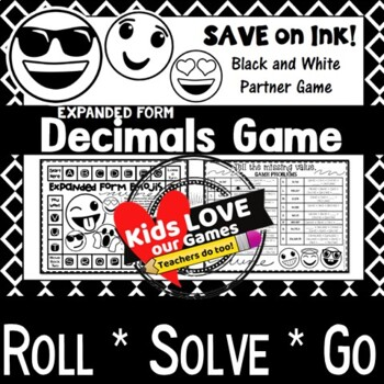 Decimals Expanded Form Game: 5th Grade Math Game