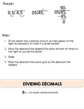 Decimals Flip Book - A Decimal Resource for Teachers, Students and Parents