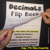 Decimals Flip Book - A Decimal Resource for Teachers, Stud