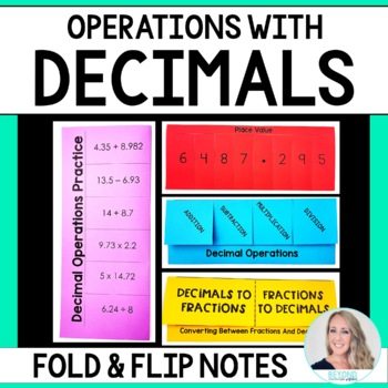 Decimal Operations Fold and Flip Notes
