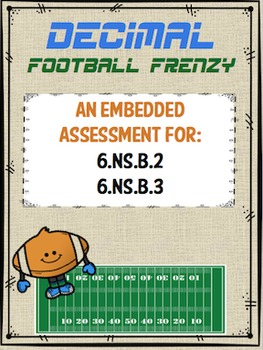Decimals Football Frenzy Assessment