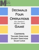 Decimals Four Operations Game
