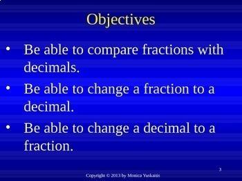Common Core 4th - Decimals & Fractions