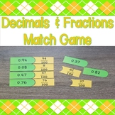Decimals & Fractions Match Game
