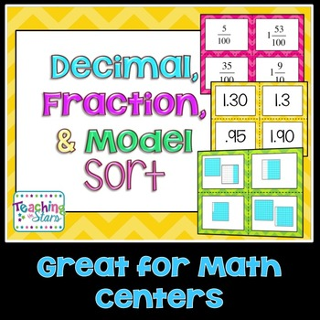 Decimals, Fractions, & Models Sort
