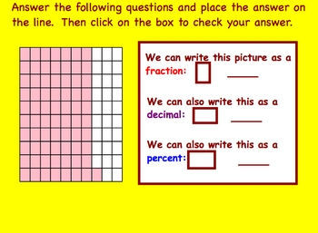 Decimals, Fractions, Percents Conversions Smartboard Math Lesson