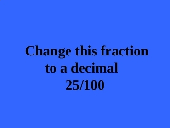 Decimals Fractions Percents Game Activity