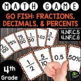 Decimals, Fractions, & Percents Go Fish {Math Game}
