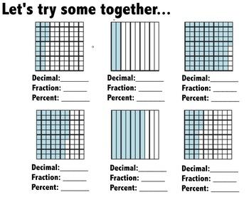 Decimals, Fractions, Percents, and Models