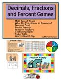 Decimals, Fractions and Percent Games