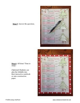 Decimals, Fractions, and Percents Foldable (Christmas Edition)