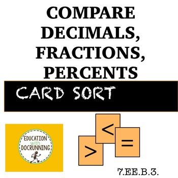 Compare decimals and fractions and percents station activity