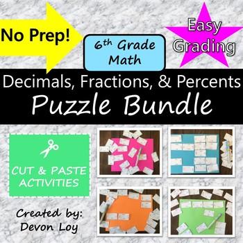 Decimals, Fractions, and Percents: Puzzle Bundle
