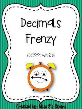Decimals Frenzy 6.NS.3