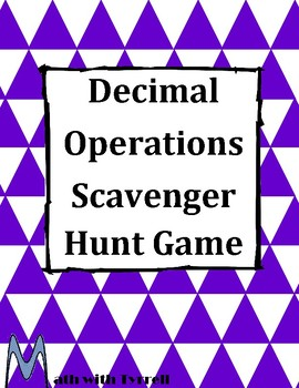 Decimals Grab Bag Scavenger Hunt Game