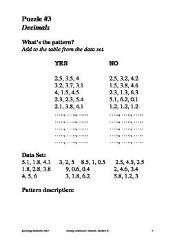 Decimals, Grades 4-6, Concept Attainment