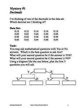 Decimals, Grades 4-6, Inquiry Training