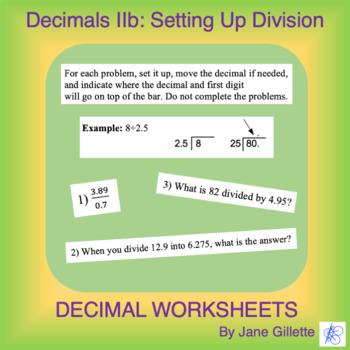 Decimals IIb: Setting Up Division