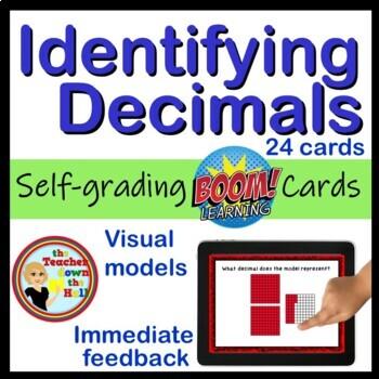 Decimals - Identifying Decimals BOOM Cards! (24 Cards)
