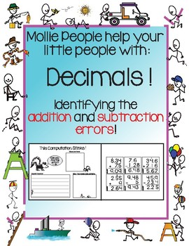 Decimals!  Identifying the Addition and Subtraction Errors!