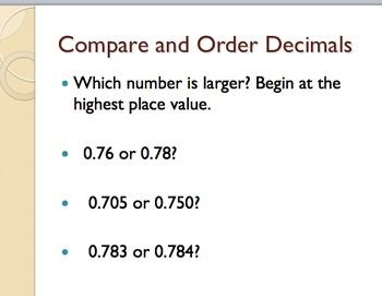 Decimals Introduction