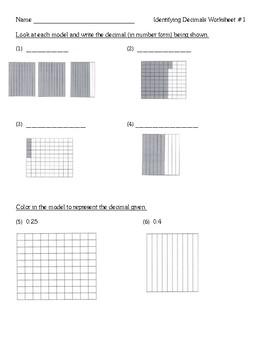 Decimals Lesson Unit - Identifying, Place Value, Decimals & Fractions
