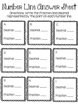 Decimals Line Up - Using Number Lines
