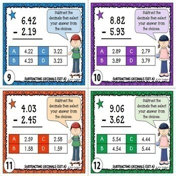 Decimals Task Cards {9 Sets}