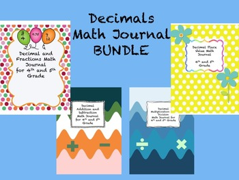 Decimals Math Journal BUNDLE