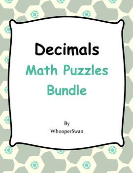 Decimals Math Puzzles Bundle