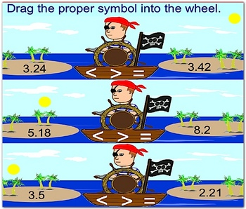 Decimals - Math Smartboard Lesson (Greater Than, Less Than, Equal to )