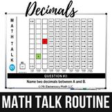 Decimals Math Talk Routine