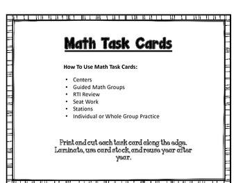 Decimals:  Math Task Cards