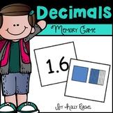 Decimals Memory Card Game