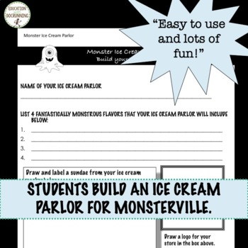 Decimal Monster Ice Cream Parlor Project Based learning UPDATED