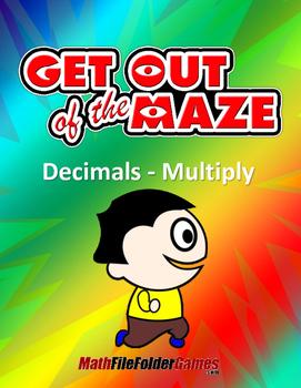 Decimals Mazes - Multiplication Worksheets