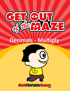 Decimal Multiplication Mazes/Worksheets