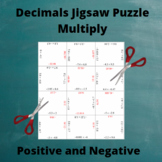 Multiply Decimals : Multiplication Puzzle Positive and Neg