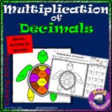 Decimals Multiplication to the Hundredths Place Value-Bonus in Spanish