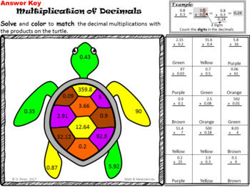 Decimals Multiplication to the Hundredths Place Value-Bonus in Spanish