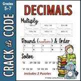 Decimals : Multiplying, Rounding, & Ordering - Crack the Code Math Practice